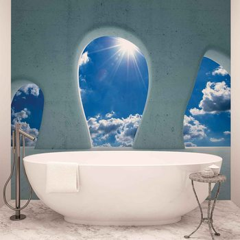 Vue Ciel Bleu Moderne Poster Mural XXL