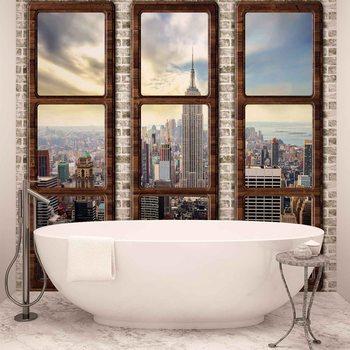 Vue de la fenêtre horizon de New York City Poster Mural XXL