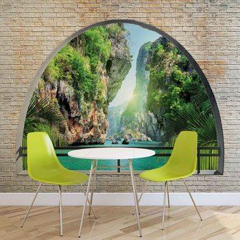 Vue sur arche tropicale Poster Mural XXL