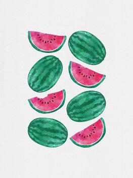Watermelon Crowd Poster Mural XXL