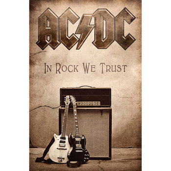 Posters textil  AC/DC - In Rock We Trust