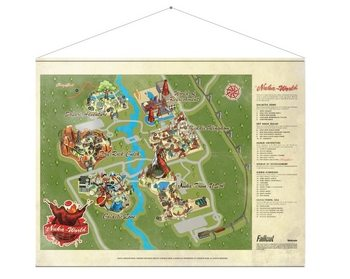 Posters textil  Fallout - Map