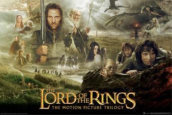 Плакат Властелинът на пръстените - трилогия