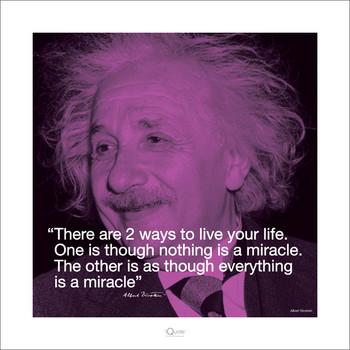 Albert Einstein - Iquote Kunstdruck