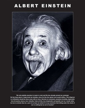 Albert Einstein - tongue Poster