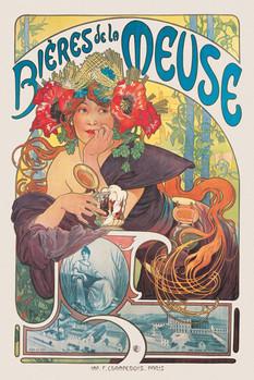 Poster Alfons Mucha - biéres de la meuse