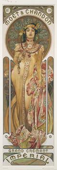 Poster Alfons Mucha - moet & chandon