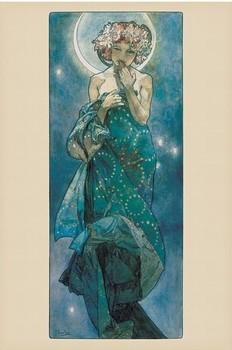 Poster Alfons Mucha - moon