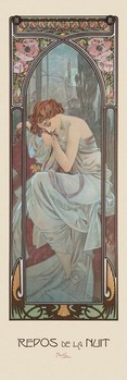 Poster Alfons Mucha - rest of the night