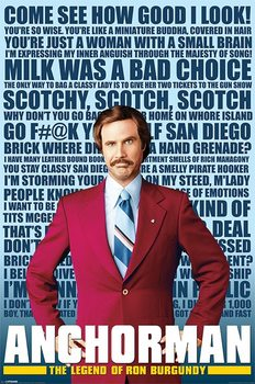Poster ANCHORMAN - quotes