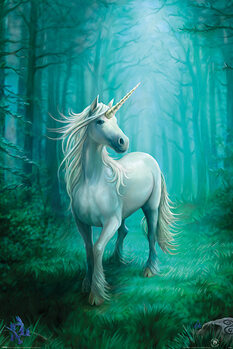 Póster Anne Stokes - Forest Unicorn