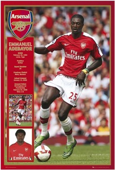 Poster Arsenal - adebayor 08/09