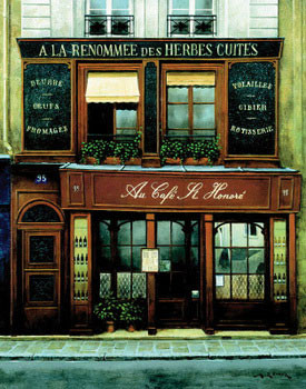 Poster Au Cafe St. Honore