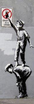 Póster Banksy - Grafitti Is A Crime