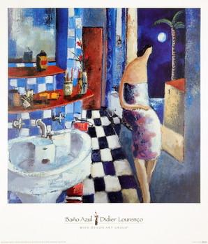 Poster Bano Azul