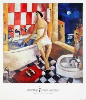 Poster Bano Rojo
