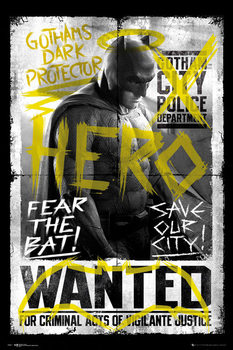 Poster Batman v Superman: Dawn of Justice - Batman Wanted