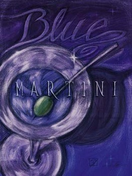 Blue Martini Kunstdruck
