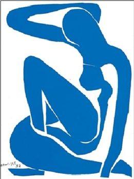 Blue Nude I, 1952 Kunstdruck