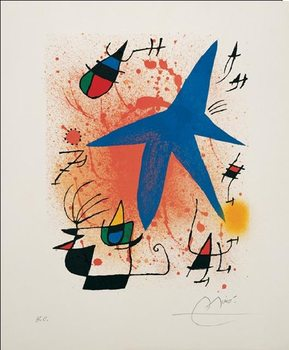 Blue Star, 1972 Kunstdruck