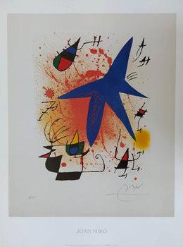 Konsttryck Blue Star, 1972