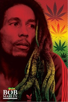 Poster Bob Marley - dreads