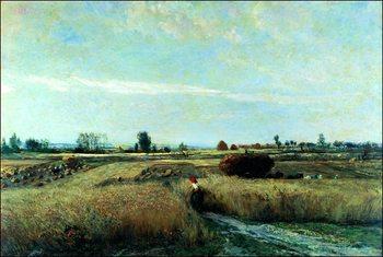 Konsttryck C.F.Daubigny - La Mietitura