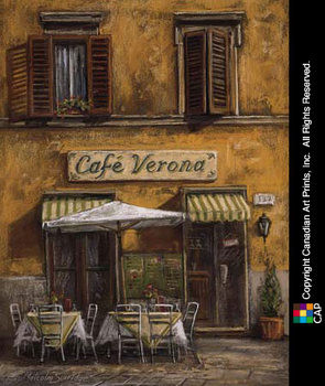 Café Verona Kunstdruck
