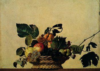 Konsttryck Caravaggio - Cesto Di Frutta