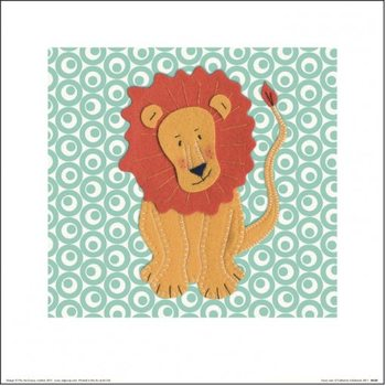 Catherine Colebrook - Fuzzy Lion Poster