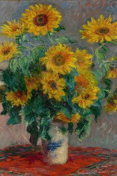 Póster Claude Monet - Bouquet of Sunflowers