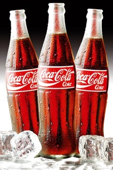 Poster Coca Cola - 3 bottles of ice