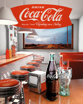 Poster COCA-COLA - diner