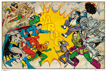 Poster DC Comics - Heroes Vs Villains