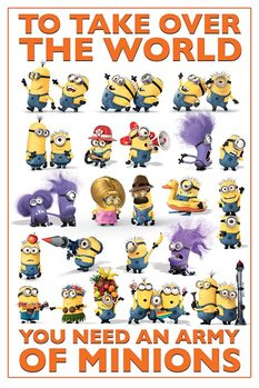 Poster Despicable Me 2 (Dumma mej 2) - Take Over the World