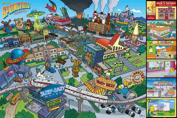 Poster Die Simpsons - Locations