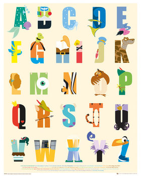 Póster Disney - Alphabet