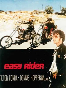 Poster EASY RIDER - riding motorbikes / colour