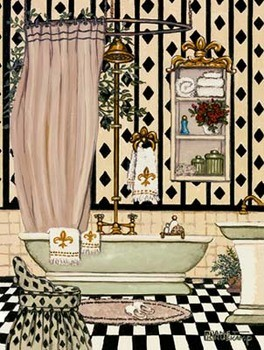 Elegant Bath II Kunstdruck