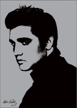 Elvis Presley - Metallic Kunstdruck