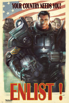 Fallout 4 - Enlist Poster