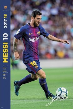Poster  FC Barcelona 2017/2018  - Messi Accion