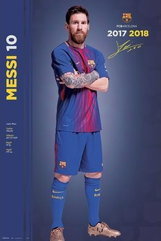 Poster  Fc Barcelona 2017/2018 Messi  - Pose
