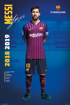 Poster  FC Barcelona 2018/2019 - Messi Pose