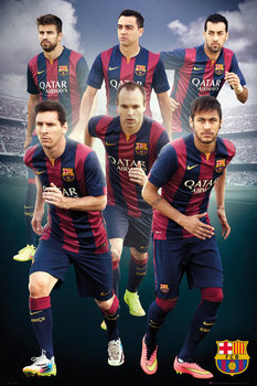 Poster FC Barcelona - Players 14/15