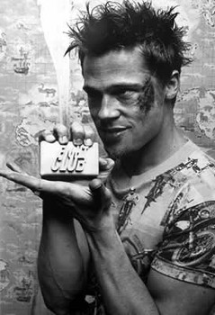 Poster FIGHT CLUB - Brad Pitt / soap