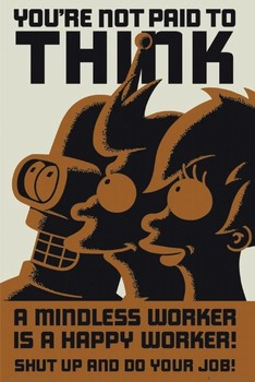 Poster FUTURAMA - dont think