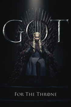 Плакат Game Of Thrones - Daenerys For The Throne