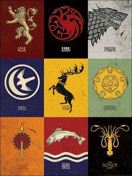 Konsttryck Game of Thrones - Sigils