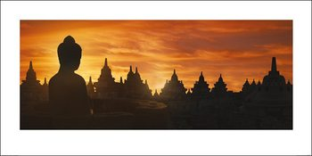 Golden Silhouette - Indonesia Kunstdruck